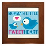 MOMMA'S LITTLE tweet HEART Framed Tile