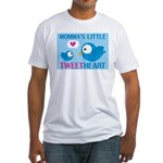 MOMMA'S LITTLE tweet HEART Fitted T-Shirt