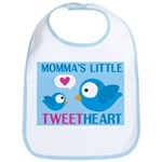 MOMMA'S LITTLE tweet HEART Bib
