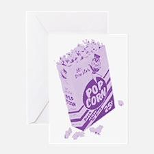 Purple Retro Drive-in Popcorn Greeting Card