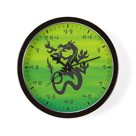Native Korean Dragon Wall Clock