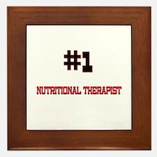 Number 1 NUTRITIONAL THERAPIST Framed Tile