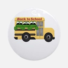 Back to School Frogs Ornament (Round)