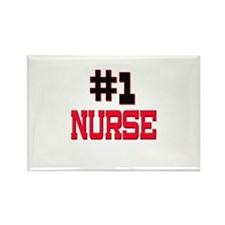 Number 1 NURSE Rectangle Magnet