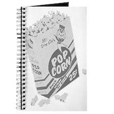 B&W Retro Drive-in Popcorn Journal