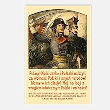 Benda Kosciuszko/Pulaski Postcards (Package of 8)