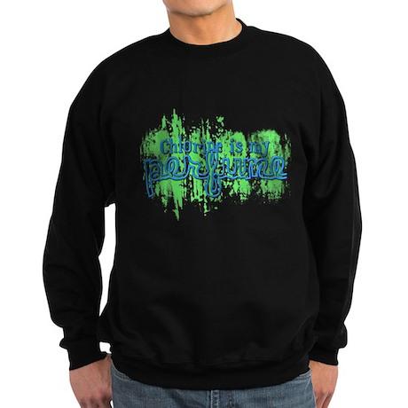 Chlorine is my Perfume (3 des Sweatshirt (dark)