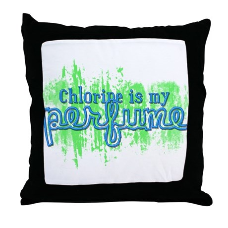 Chlorine is my Perfume (3 des Throw Pillow