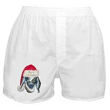 Nubian Kid Goat Xmas Boxer Shorts
