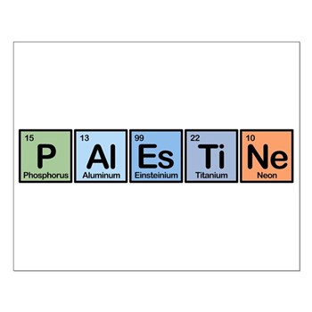 Palestine made of Elements Small Poster