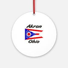Akron Ohio Ornament (Round)