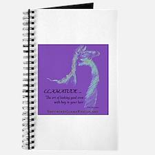 Llamatude Reverse Purple Journal