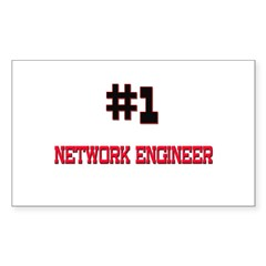 Number 1 NETWORK ENGINEER Rectangle Decal