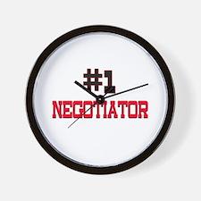 Number 1 NEGOTIATOR Wall Clock