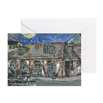 Starry Night Black Smith Shop Note Cards