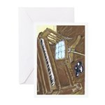 Piano and Chair Note Cards (6)