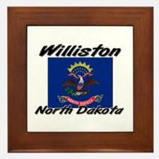 Williston North Dakota Framed Tile