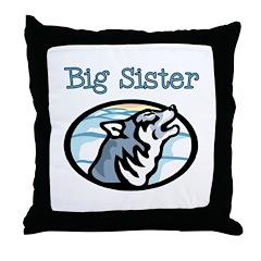 Wolf Big Sister Throw Pillow