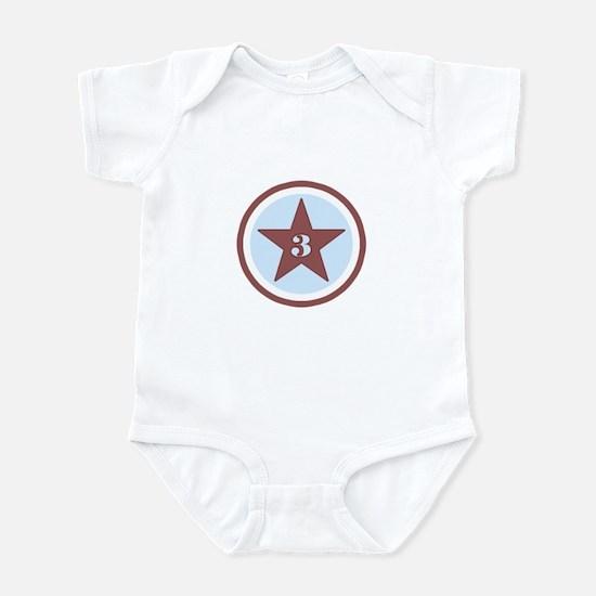 Number Three Infant Bodysuit