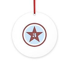 Number Three Ornament (Round)