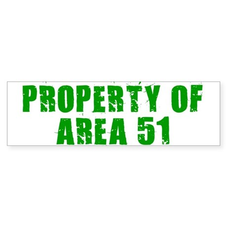 AREA 51 SHIRT PROPERTY OF ARE Sticker (Bumper 10 p