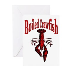 Boiled Crawfish Greeting Cards (Pk of 10)