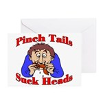 Pinch Tails, Suck Heads! Greeting Cards (Package o