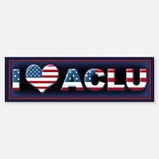 1 <3 ACLU Bumper Bumper Sticker