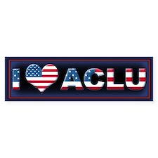 1 <3 ACLU Bumper Sticker