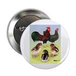 Danish Leghorn Rooster, Hen & Button