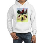 Danish Leghorn Rooster, Hen & Hooded Sweatshirt