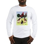 Danish Leghorn Rooster, Hen & Long Sleeve T-Shirt