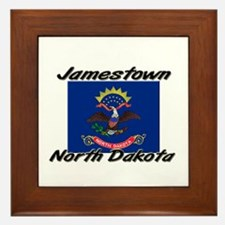Jamestown North Dakota Framed Tile