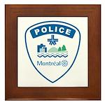 Montreal Police Framed Tile