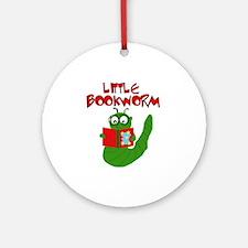 Little Bookworm Ornament (Round)