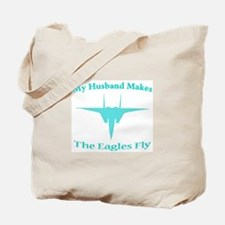 F-15 Husband Aqua Tote Bag