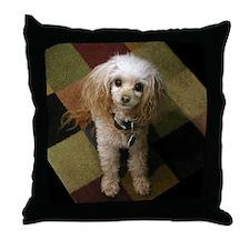 Poodle on Carpet Throw Pillow