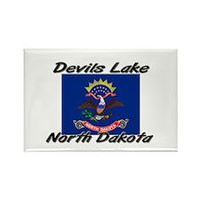 Devils Lake North Dakota Rectangle Magnet