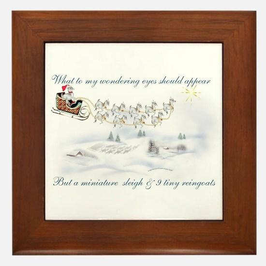 Pygmy ReinGoats Christmas Framed Tile
