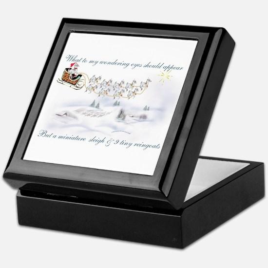 Pygmy ReinGoats Christmas Keepsake Box