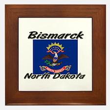 Bismarck North Dakota Framed Tile