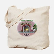 Pygmy Goat Christmas Tote Bag