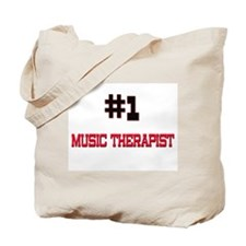 Number 1 MUSIC THERAPIST Tote Bag