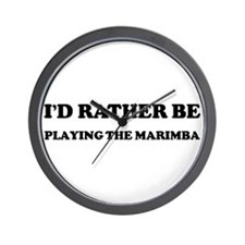 Rather be Playing the Marimba Wall Clock