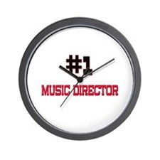 Number 1 MUSIC DIRECTOR Wall Clock