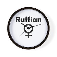 Ruffian Female Symbol Wall Clock