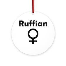 Ruffian Female Symbol Ornament (Round)