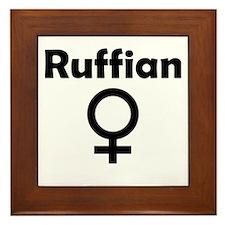 Ruffian Female Symbol Framed Tile
