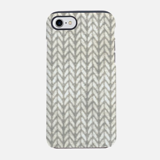 White Knit Graphic Pattern iPhone 7 Tough Case