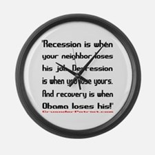 Recovery begins when Obama loses! Large Wall Clock